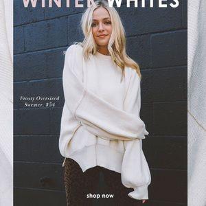 VICI Oversized White Sweater